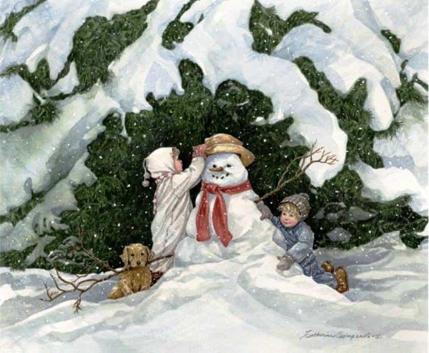 snegovik-i-deti