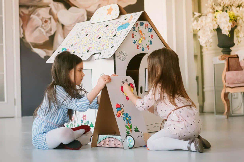 Лайфхак: как сделать игровой домик из картона? Картонный домик своими руками