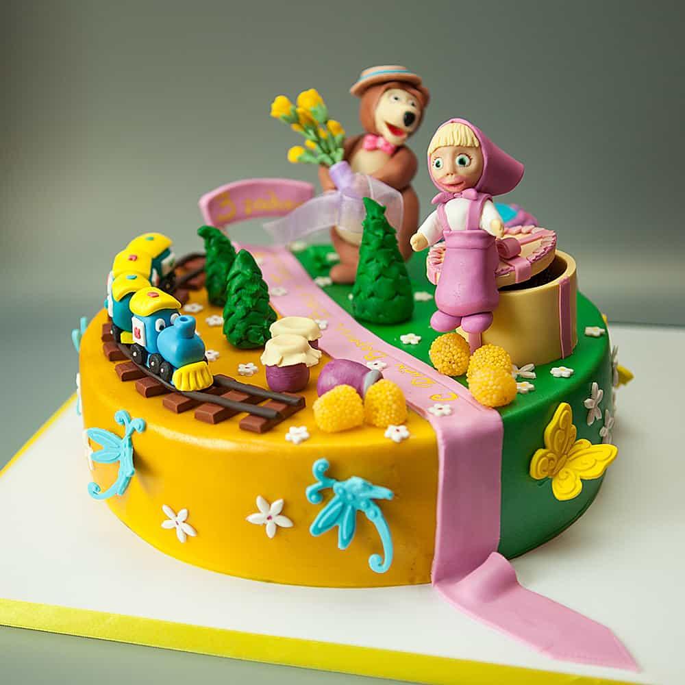 Торт для троих именинников фото