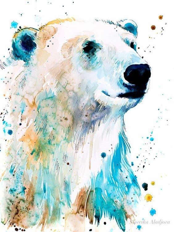 watercolor polar bear_05