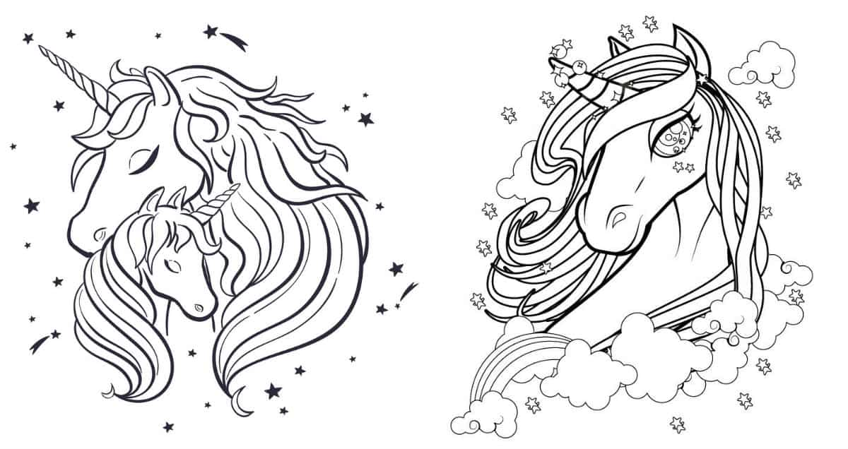 раскраска единорог распечатать и волшебно раскрасить