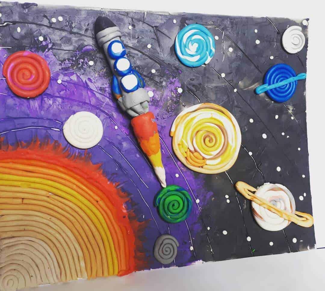 Космос из пластилина картинки