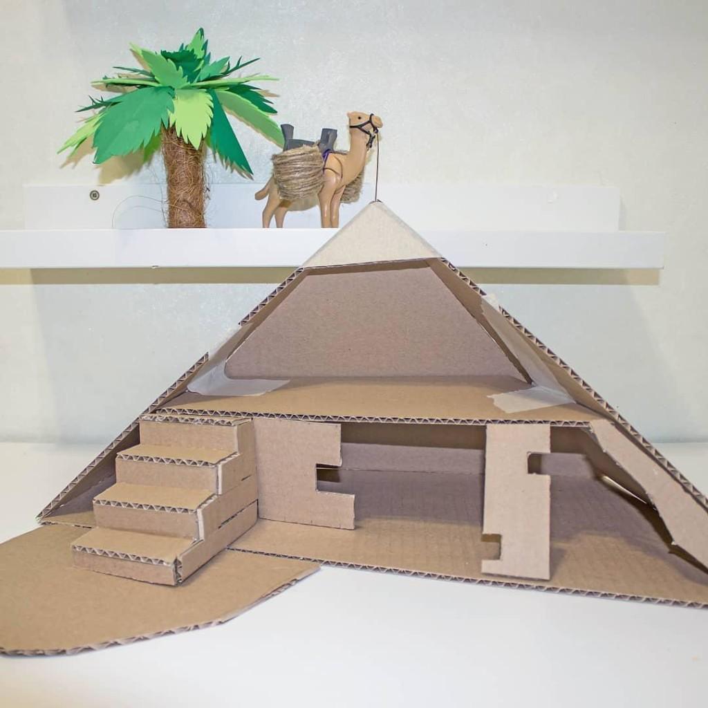 Piramida_iz_kartona__podelki_dlya_detei