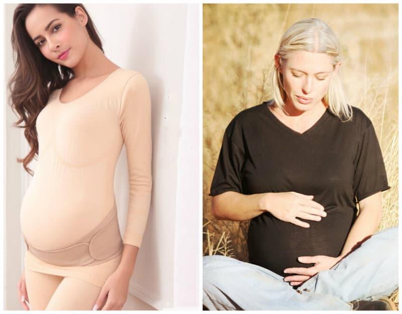 Как правильно одевать и носить бандаж для беременных