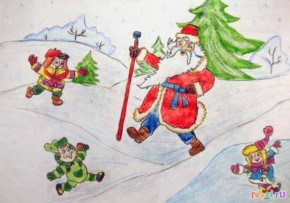 Сказка про новогоднее приключение Деда Мороза