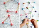 Развивающая игра с ребенком «Веселая геометрия»