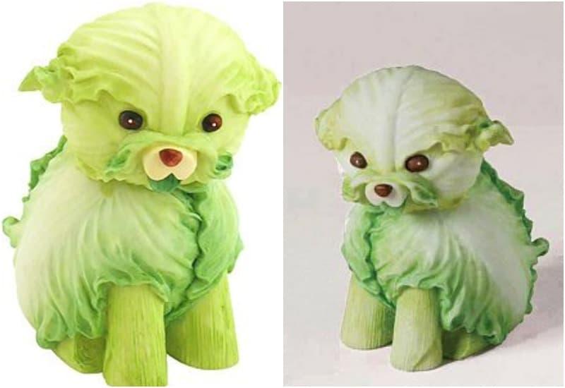 поделка из овощей собака из капусты