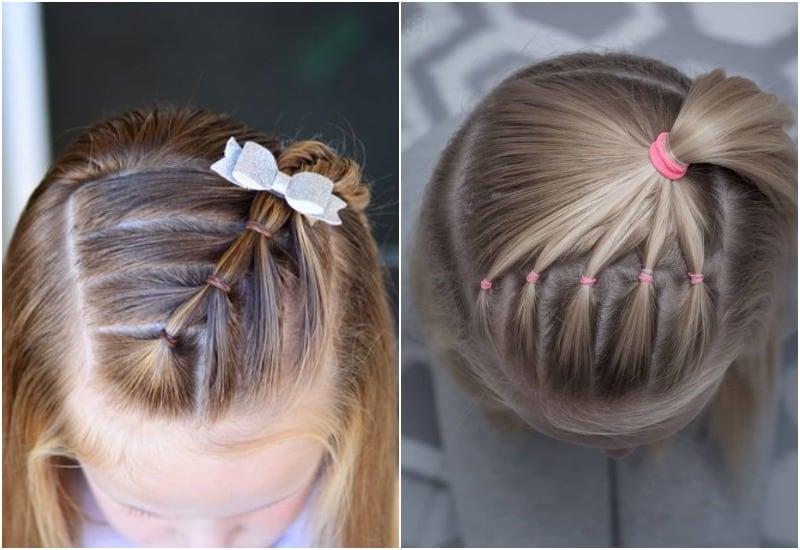 прическа для девочки на короткие волосы