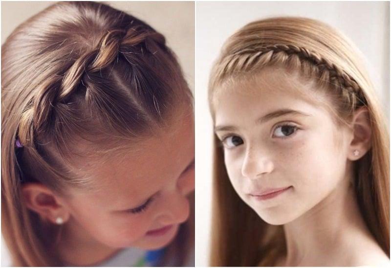 прическа на короткие волосы коса ободок